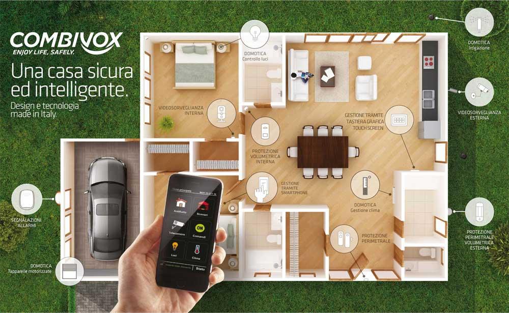 Casa sicura e intelligente con Combivox